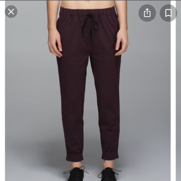 Lululemon Jet Pant Black Cherry